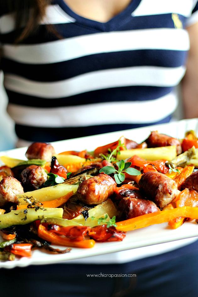 teglia con salsiccia e verdure 022