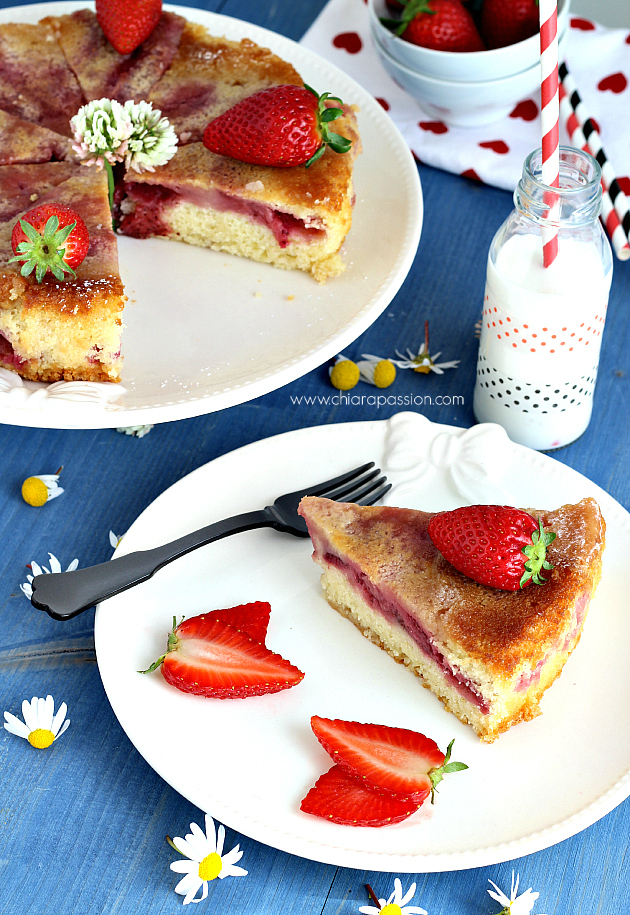 torta morbida di fragole 019