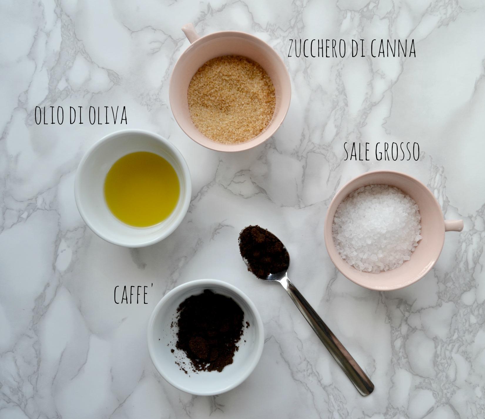 scrub al caffe' ingredienti