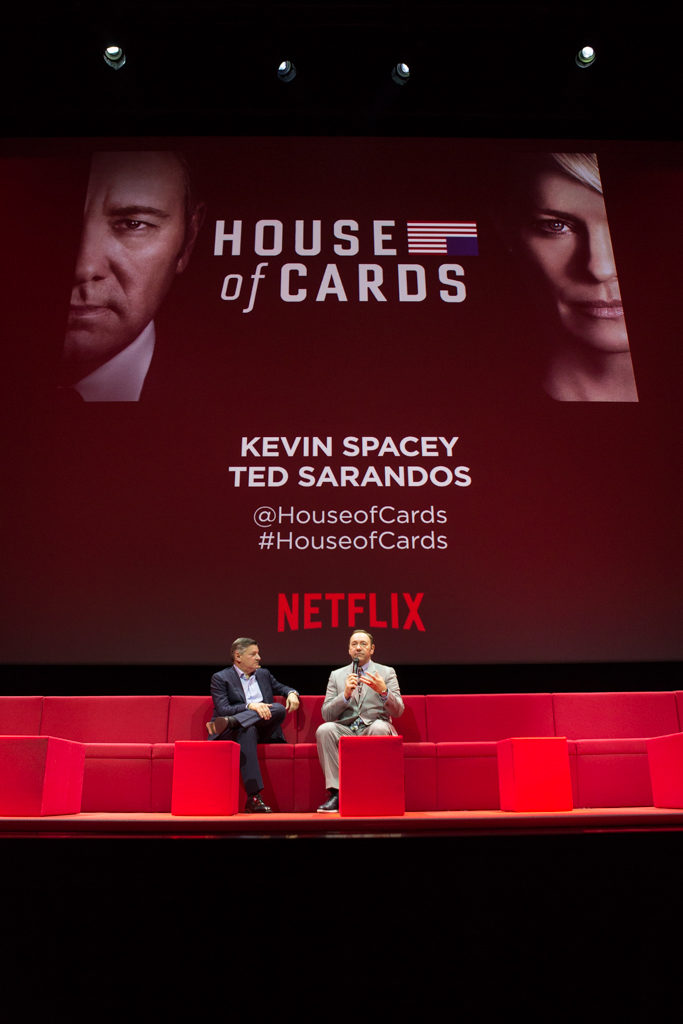 Netflix Event, Paris 11.04.2016 House of Cards Panel (L-R) Ted Sarandos, Kevin