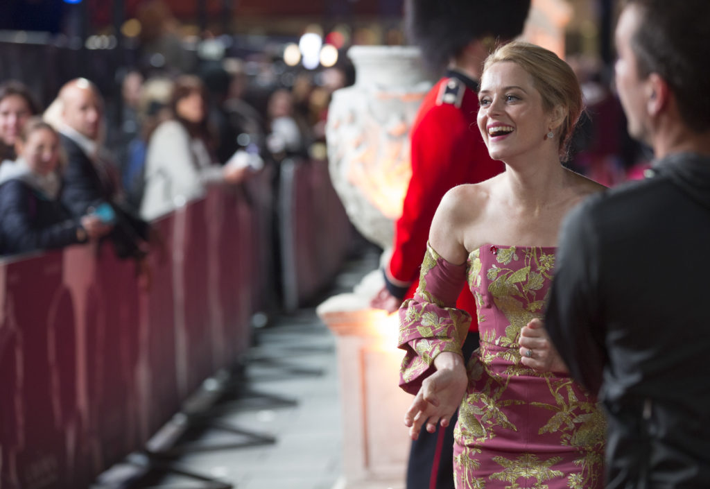 London UK : Claire Foy at the Netflix Original Series world premiere of The Crown. November 1st 2016. London UK